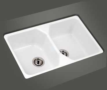 Mitrani Kitchen Sinks - Titan Quartz - BT 768T Topmount/Undermount Sink - 2 Colors