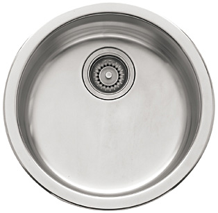 Franke Kitchen Sinks - Topmount Stainless Steel Single Bowl Sink - RBX110 Rotondo