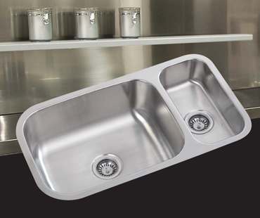 Mitrani Kitchen Sinks - Stainless Steel - TERZO 8564 Undermount/Flushmount