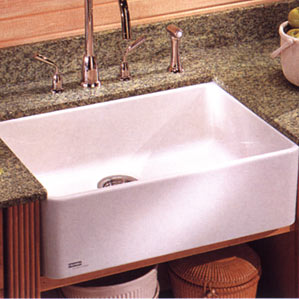Franke Farmhouse Sinks - Apron Front Fireclay Single Bowl Sink - MHK110-20WH Manor House