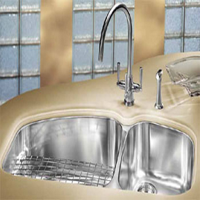 Franke Kitchen Sinks - Undermount Stainless Steel Double Bowl Sink - VNX12037 Vision