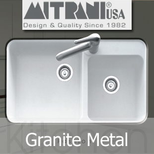 Mitrani Kitchen Sinks - Granite Metal