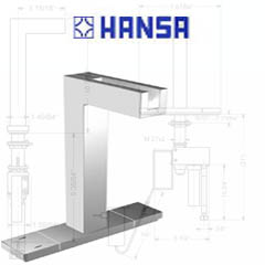 hansa faucet 5491 2233 hansacuisine high arc side lever