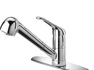 LaToscana Kitchen Faucets - Dante DAPW564 Pull Out Spray - Brushed Nickel