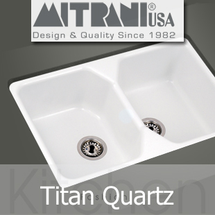 Mitrani Kitchen Sinks - Titan Quartz